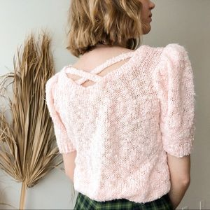 Vintage Pink Sweater Top